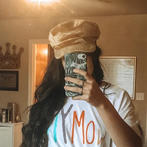 Gold velvet baker boy hat. NWT. Brixton f4dd2d5c4eff